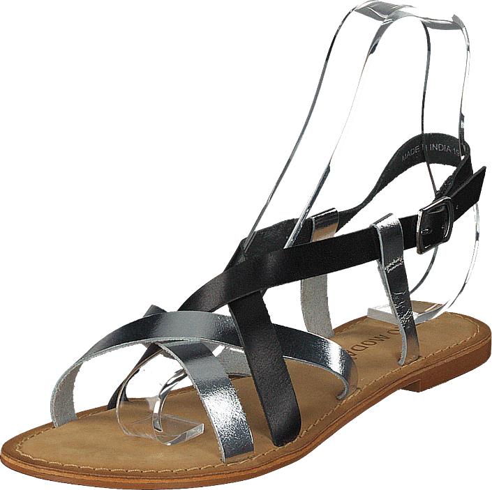 Vero Moda Mary Leather Sandal Black/silver, Kengät, Sandaalit ja tohvelit, Remmisandaalit, Harmaa, Ruskea, Naiset, 36