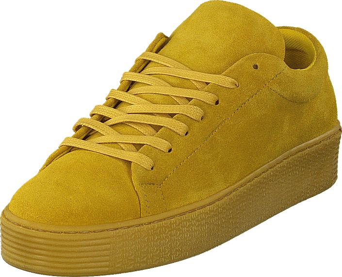 Vero Moda Stella Leather Sneaker Harvest Gold, Kengät, Sneakerit ja urheilukengät, Varrettomat tennarit, Keltainen, Naiset, 36