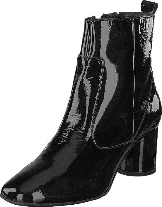 Bianco Boot W/round Heel Jas18 Black, Kengät, Saappaat ja saapikkaat, Nilkkurit, Harmaa, Naiset, 36