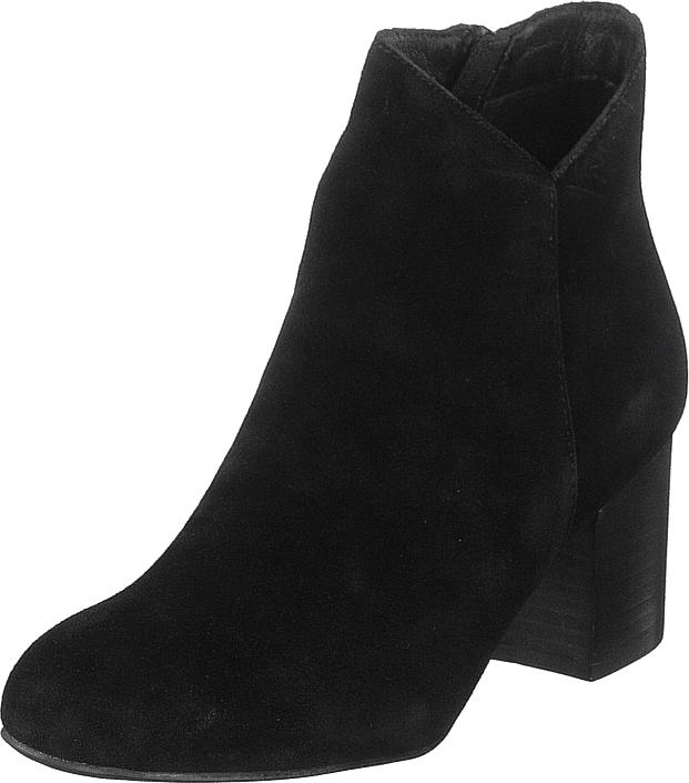 Bianco Suede V-cut Boot Jas18 Black, Kengät, Saappaat ja saapikkaat, Nilkkurit, Musta, Naiset, 41
