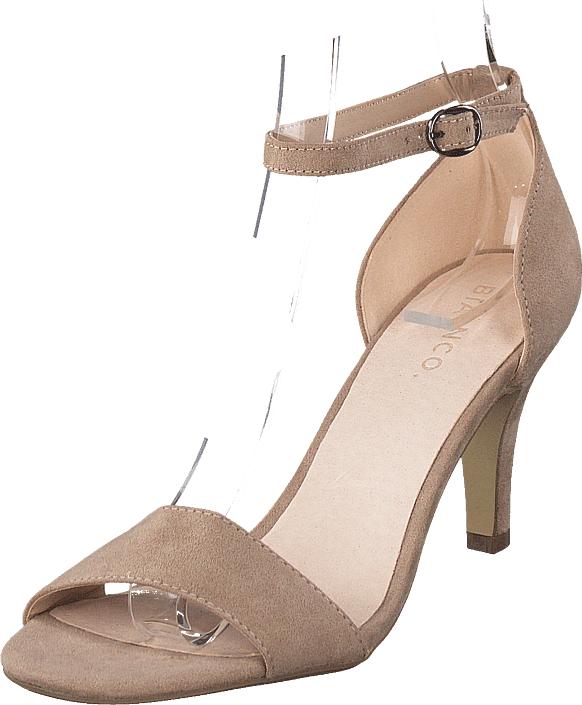 Bianco Low Basic Sandal Noos Nougat, Kengät, Korkokengät, Matalakorkoiset Sandaletit, Ruskea, Naiset, 36