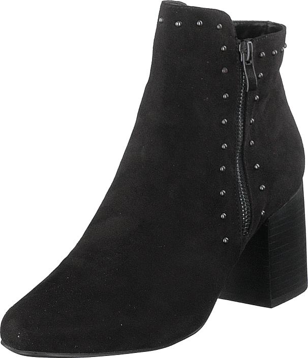 Bianco Ankle Boot With Details Jas18 Black, Kengät, Saappaat ja saapikkaat, Nilkkurit, Musta, Naiset, 39