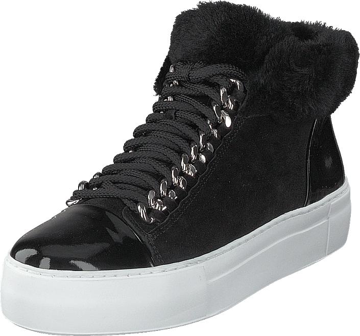Billi Bi 250 Black Pat Black, Kengät, Sneakerit ja urheilukengät, Korkeavartiset tennarit, Musta, Naiset, 36