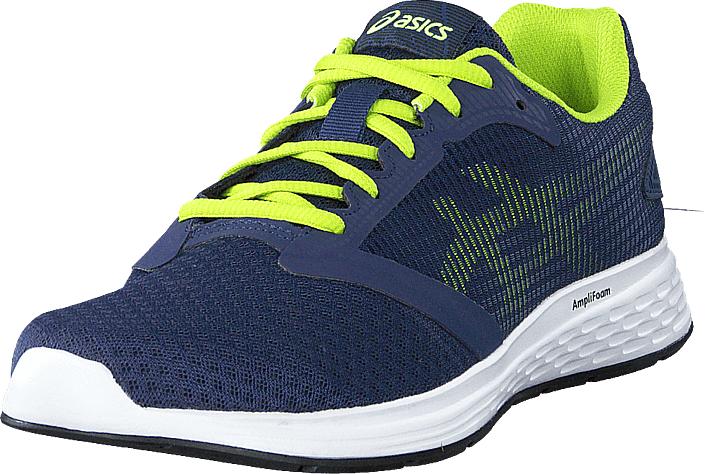 Asics Patriot 10 Deep Ocean/flash Yellow, Kengät, Sneakerit ja urheilukengät, Urheilukengät, Sininen, Miehet, 45