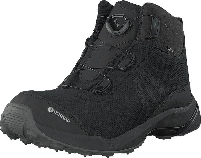 Icebug Detour M Rb9x Gtx Carbon/black, Kengät, Bootsit, Vaelluskengät, Musta, Miehet, 42