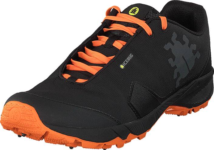 Icebug Pytho4 M Bugrip® Black/dkorange, Kengät, Sneakerit ja urheilukengät, Tennarit , Musta, Miehet, 44