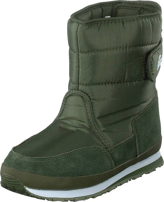 Rubber Duck Rd Nylon Suede Solid Kids Khaki, Kengät, Bootsit, Lämminvuoriset kengät, Vihreä, Unisex, 22
