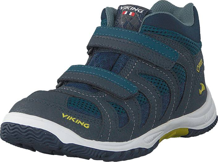 Viking Cascade Ii Mid Gtx Denim/lime, Kengät, Sneakerit ja urheilukengät, Korkeavartiset tennarit, Sininen, Unisex, 32
