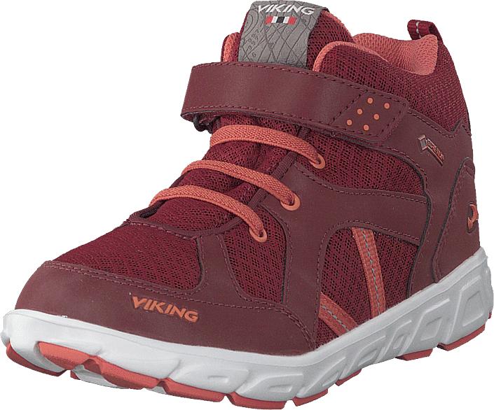 Viking Alvdal Mid R Gtx Wine/coral, Kengät, Sneakerit ja urheilukengät, Korkeavartiset tennarit, Punainen, Unisex, 33