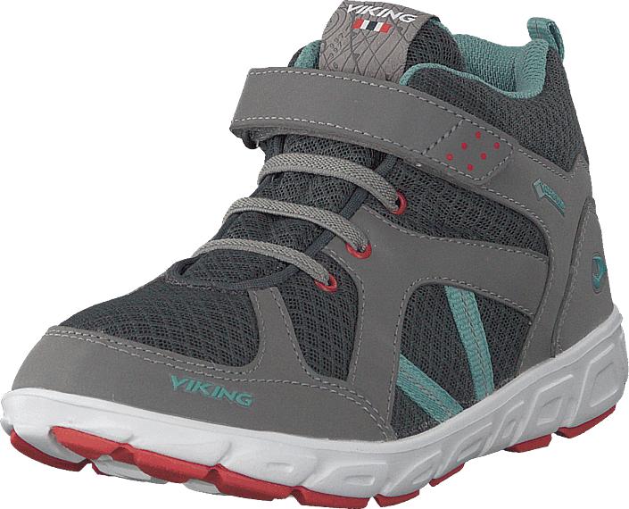 Viking Alvdal Mid R Gtx Charcoal/bluegreen, Kengät, Sneakerit ja urheilukengät, Korkeavartiset tennarit, Harmaa, Unisex, 26