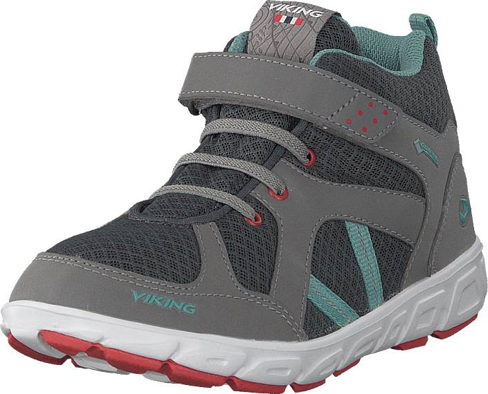 Viking Alvdal Mid R Gtx Charcoal/bluegreen, Kengät, Sneakerit ja urheilukengät, Korkeavartiset tennarit, Harmaa, Unisex, 31
