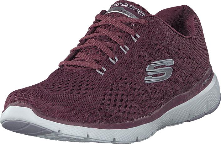 Skechers Womens Flex Appeal 3.0 Wine, Kengät, Sneakerit ja urheilukengät, Sneakerit, Violetti, Naiset, 38