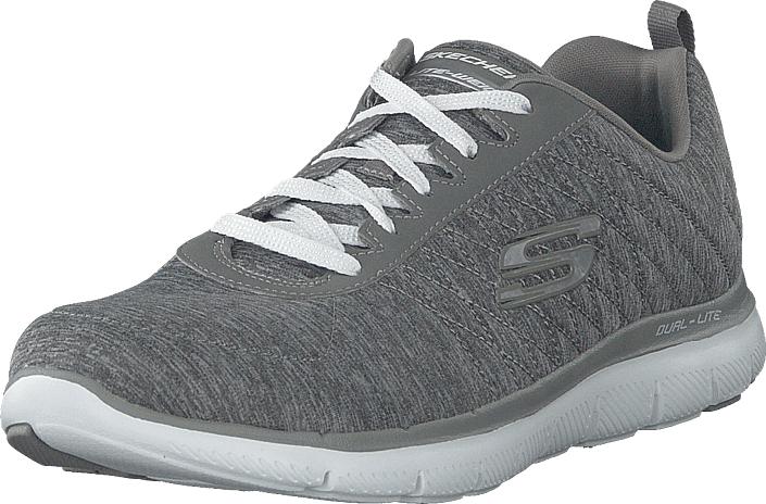 Skechers Women Flex Appeal 2.0 Gry, Kengät, Sneakerit ja urheilukengät, Sneakerit, Harmaa, Naiset, 37