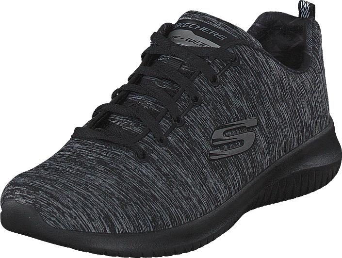 Skechers Womens Ultra Flex - Shoreline Bbk, Kengät, Sneakerit ja urheilukengät, Sneakerit, Harmaa, Naiset, 36