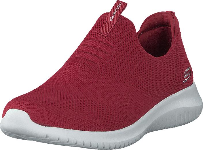 Skechers Womens Ultra Flex Red, Kengät, Sneakerit ja urheilukengät, Sneakerit, Vaaleanpunainen, Naiset, 41