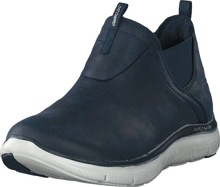 Skechers Flex Appeal 2.0 - Done Deal Nvy, Kengät, Sneakerit ja urheilukengät, Sneakerit, Sininen, Naiset, 37
