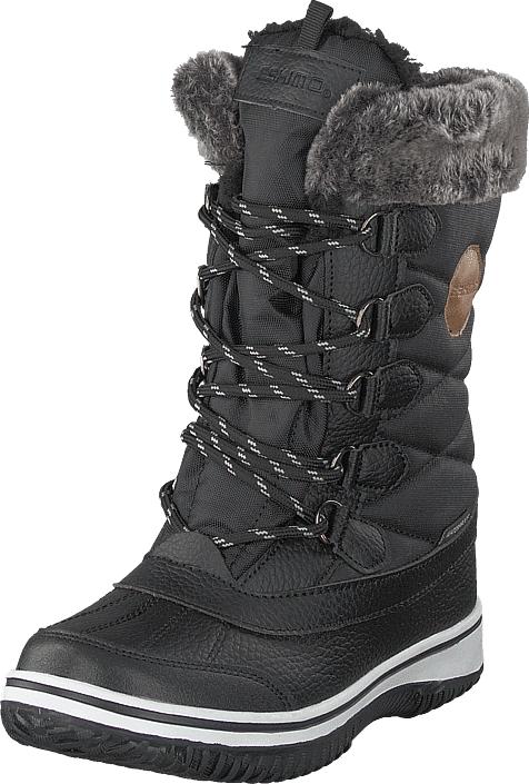 Eskimo Frosty Waterproof Black, Kengät, Saappaat ja saapikkaat, Lämminvuoriset talvisaappaat, Harmaa, Musta, Unisex, 35
