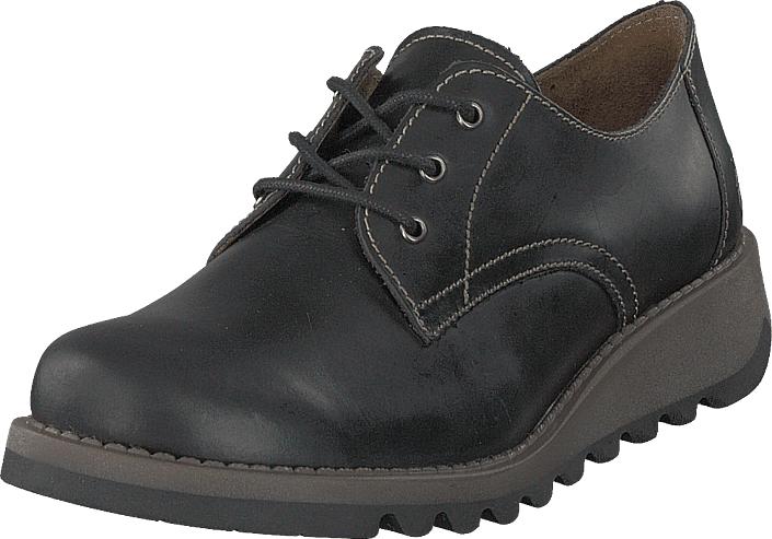 Fly London Simb K Pull Up - Black, Kengät, Matalapohjaiset kengät, Kävelykengät, Musta, Unisex, 37