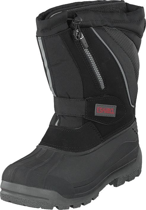 Eskimo Scooter Man Black, Kengät, Bootsit, Lämminvuoriset kengät, Harmaa, Unisex, 45