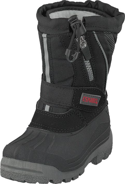 Eskimo Scooter Child Black, Kengät, Bootsit, Lämminvuoriset kengät, Harmaa, Unisex, 35