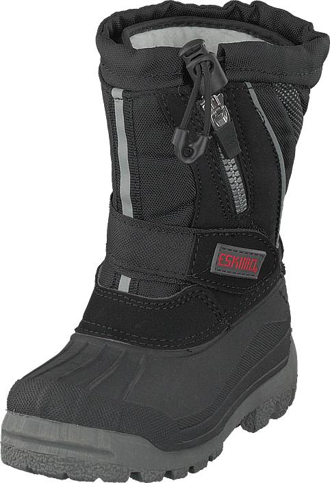 Eskimo Scooter Child Black, Kengät, Bootsit, Lämminvuoriset kengät, Harmaa, Unisex, 25