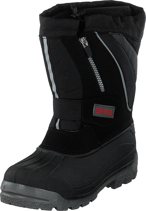 Eskimo Scooter Jr Black, Kengät, Bootsit, Lämminvuoriset kengät, Musta, Unisex, 39