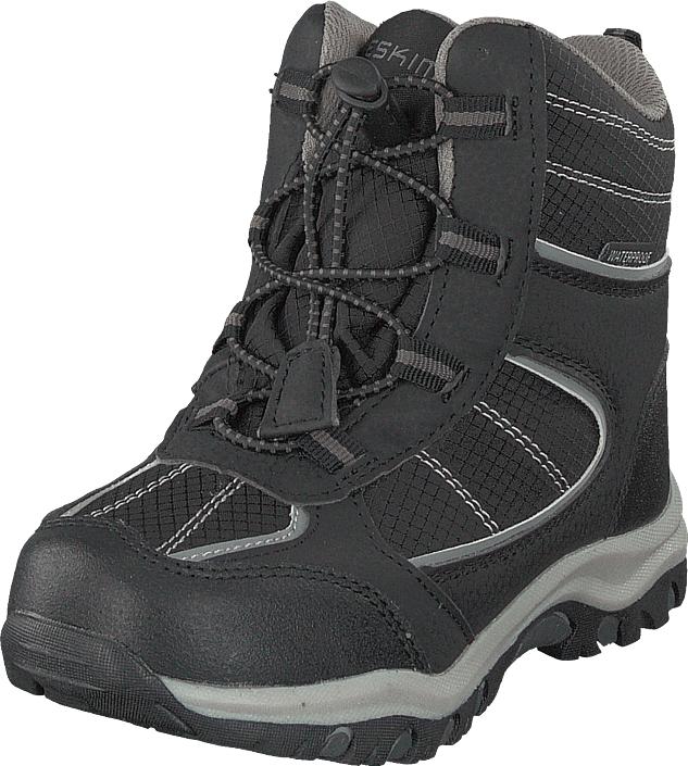 Eskimo Trull Waterproof Black/grey, Kengät, Bootsit, Lämminvuoriset kengät, Harmaa, Unisex, 31