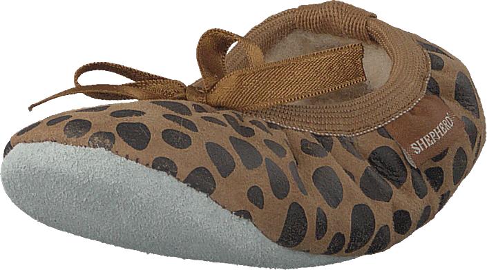 Shepherd Varberg Leopard, Kengät, Matalapohjaiset kengät, Ballerinat, Ruskea, Unisex, 25