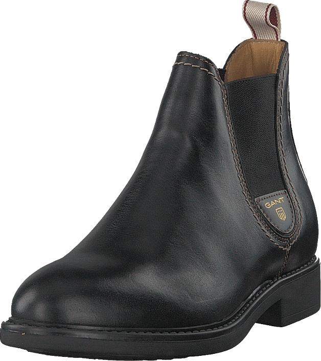 Gant Lydia Chelsea Black, Kengät, Bootsit, Chelsea boots, Musta, Naiset, 37