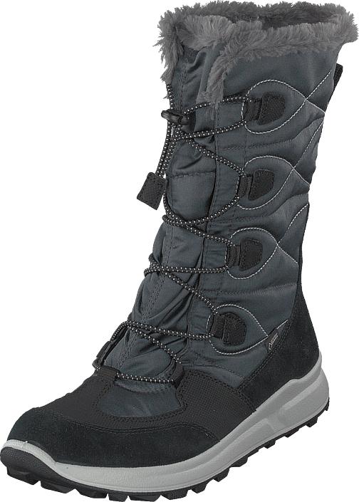 Superfit Merida Gore-tex® Black/grey, Kengät, Saappaat ja saapikkaat, Lämminvuoriset talvisaappaat, Harmaa, Unisex, 34
