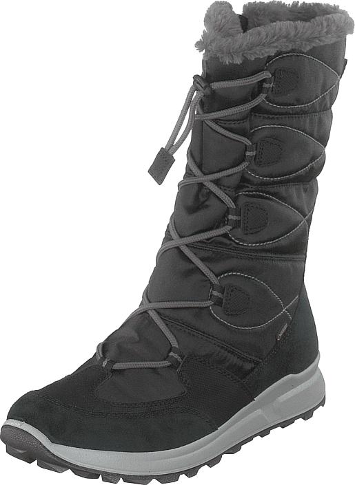 Superfit Merida Gore-tex® Black/grey, Kengät, Saappaat ja saapikkaat, Lämminvuoriset talvisaappaat, Musta, Unisex, 35