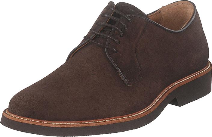 Sebago Derby Dk Brown Suede, Kengät, Matalapohjaiset kengät, Juhlakengät, Ruskea, Miehet, 42