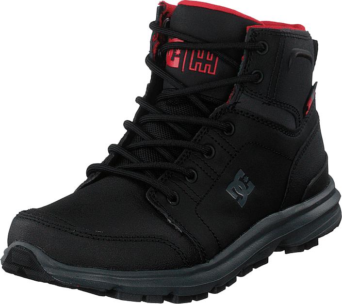 DC Shoes Torstein Black/grey/red, Kengät, Bootsit, Kengät, Musta, Miehet, 46