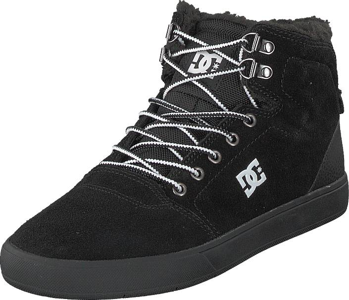 DC Shoes Crisis High Wnt Black/white/black, Kengät, Sneakerit ja urheilukengät, Korkeavartiset tennarit, Musta, Miehet, 40