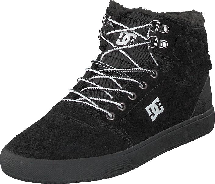 DC Shoes Crisis High Wnt Black/white/black, Kengät, Sneakerit ja urheilukengät, Korkeavartiset tennarit, Musta, Miehet, 47
