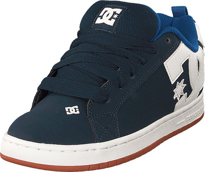 DC Shoes Court Graffik Navy/royal, Kengät, Sneakerit ja urheilukengät, Korkeavartiset tennarit, Sininen, Miehet, 44
