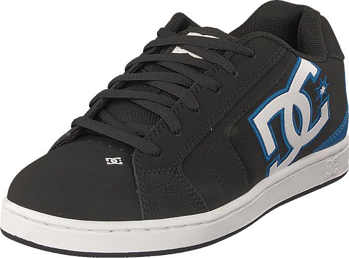 DC Shoes Net Black/black/blue, Kengät, Sneakerit ja urheilukengät, Sneakerit, Musta, Miehet, 45
