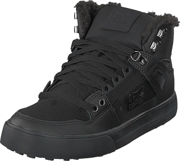 DC Shoes Pure High-top Wc Wnt Black/black/black, Kengät, Sneakerit ja urheilukengät, Korkeavartiset tennarit, Musta, Miehet, 40