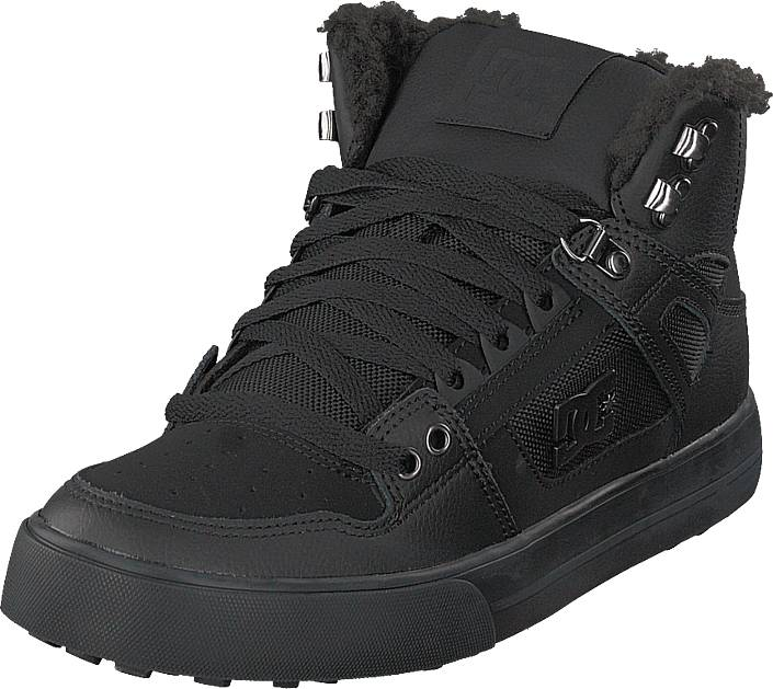 DC Shoes Pure High-top Wc Wnt Black/black/black, Kengät, Sneakerit ja urheilukengät, Korkeavartiset tennarit, Musta, Miehet, 45