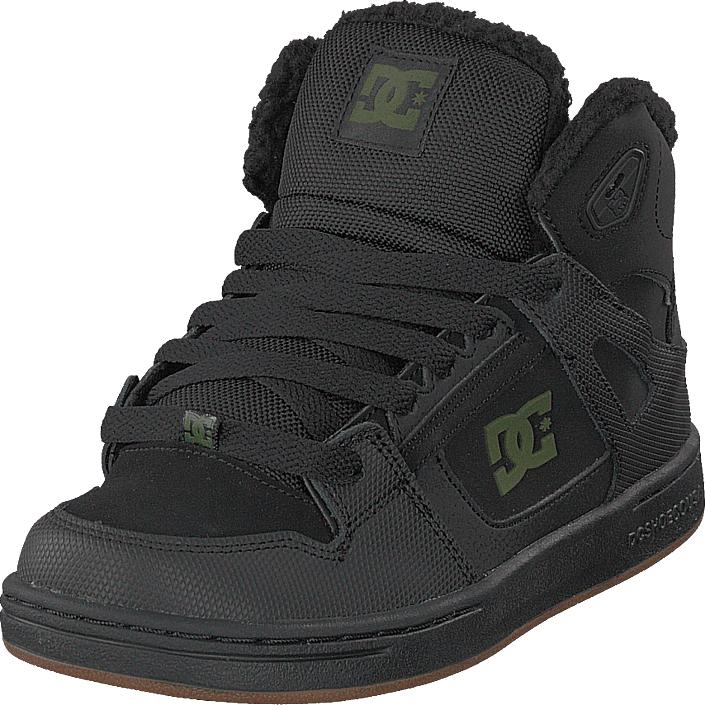 DC Shoes Pure High-top Wnt Black/black/green, Kengät, Sneakerit ja urheilukengät, Korkeavartiset tennarit, Musta, Unisex, 32