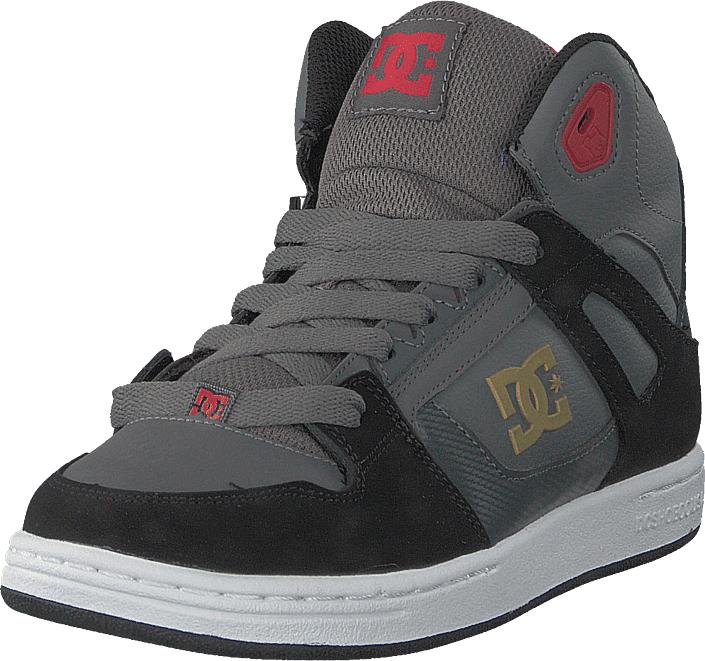 DC Shoes Pure High-top Grey/black/red, Kengät, Sneakerit ja urheilukengät, Korkeavartiset tennarit, Harmaa, Unisex, 32