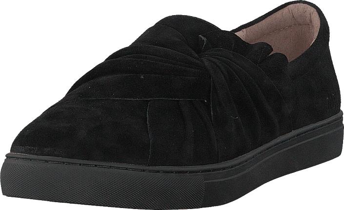 Dasia Daylily Slip-on Bow Black/black, Kengät, Matalapohjaiset kengät, Slip on, Musta, Naiset, 37