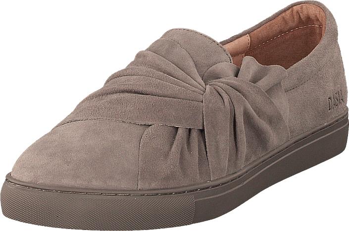 Dasia Daylily Slip-on Bow Grey/grey, Kengät, Matalapohjaiset kengät, Kävelykengät, Ruskea, Naiset, 36