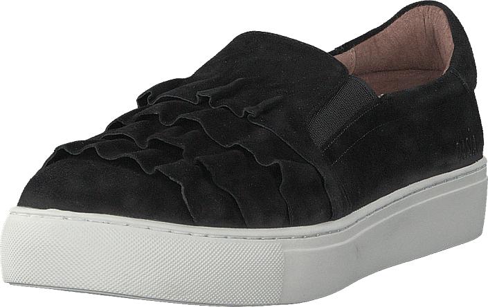 Dasia Starlily Frill Black, Kengät, Matalapohjaiset kengät, Kävelykengät, Musta, Naiset, 42