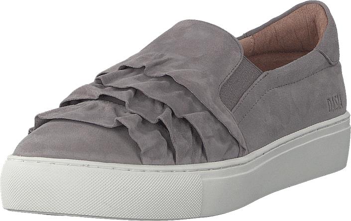 Dasia Starlily Frill Grey, Kengät, Matalapohjaiset kengät, Slip on, Harmaa, Naiset, 40