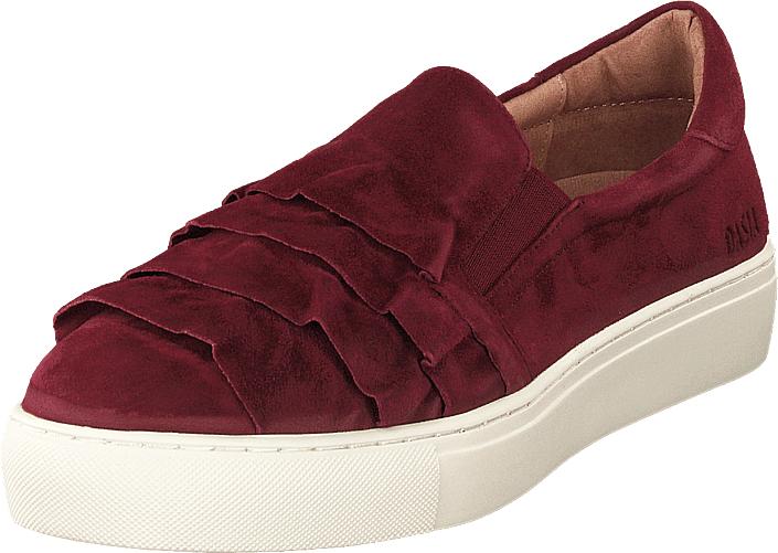 Dasia Starlily Frill Bordeaux, Kengät, Matalapohjaiset kengät, Kävelykengät, Punainen, Naiset, 38