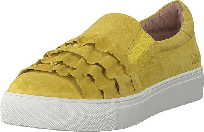 Dasia Starlily Frill Yellow, Kengät, Matalapohjaiset kengät, Kävelykengät, Keltainen, Naiset, 39