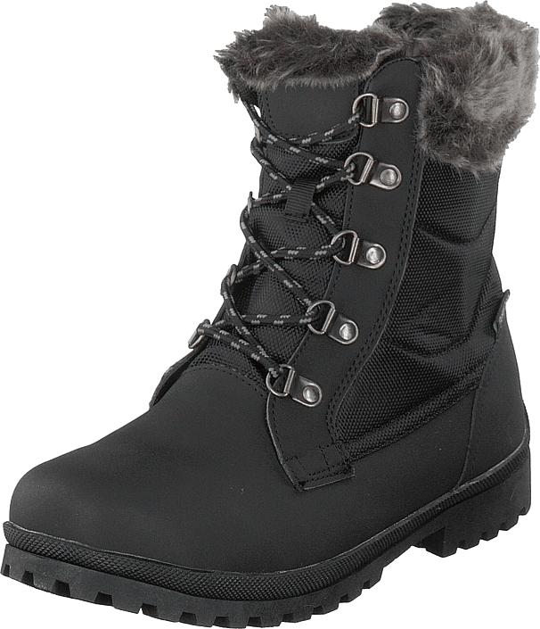 Polecat 435-0908 Waterproof Warm Lined Black, Kengät, Bootsit, Korkeavartiset bootsit, Musta, Naiset, 42