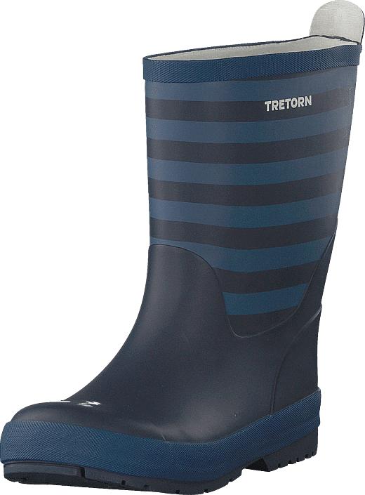 Tretorn Gränna Navy / Storm Blue, Kengät, Saappaat ja saapikkaat, Pitkävartiset kumisaappaat, Sininen, Unisex, 24