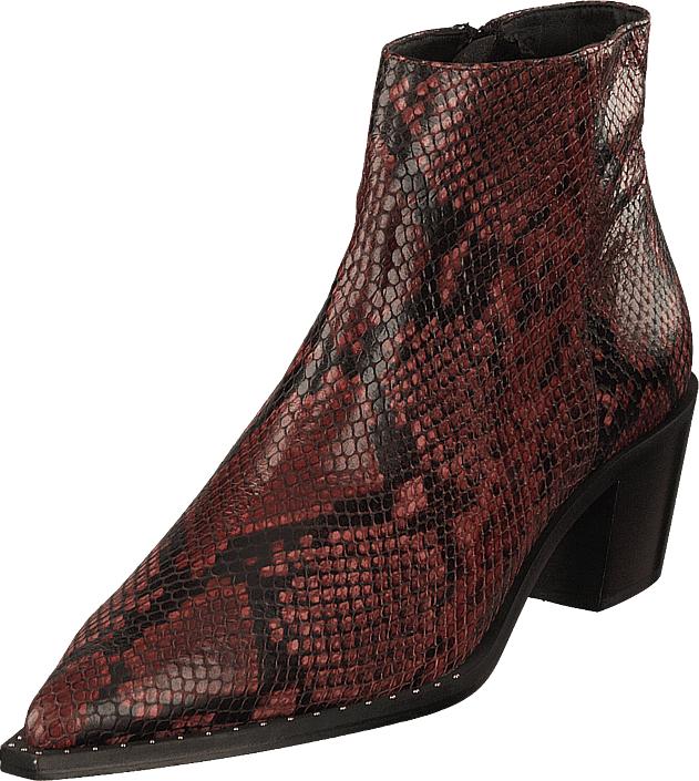 Gardenia Madrid Snake Red, Kengät, Saappaat ja saapikkaat, Nilkkurit, Ruskea, Naiset, 38